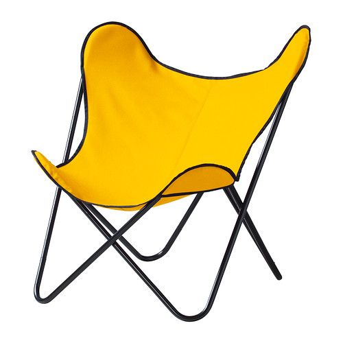 IKEA - KLÄPPA, Easy chair, yellow, , The cover is easy to keep clean as it is removable and can be washed.The armchair is lightweight and easy to move if you want to clean the floor or rearrange the furniture.