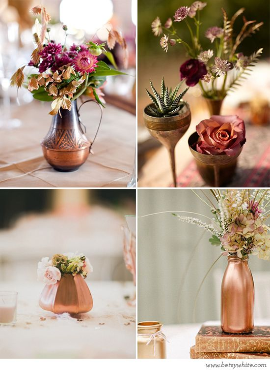 Trendspotting: Copper // Flights of Fancy (click for photo credits): Desert Wedding, Ideas, Fancy Blog, Dream Wedding, Wedding Theme, Reception Centerpieces, Table Centerpieces, Gold Wedding, Aaron S Wedding