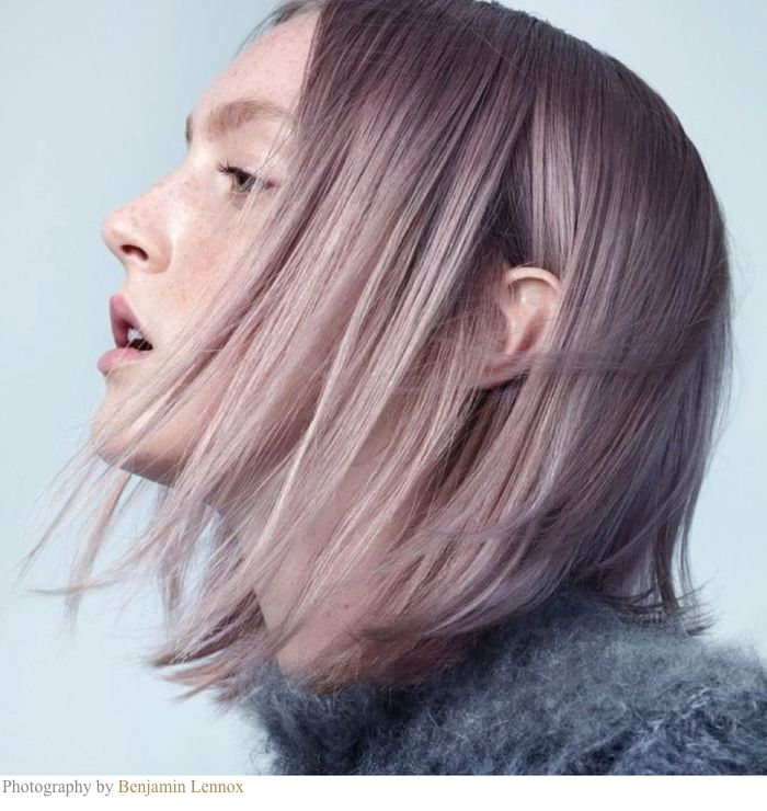 Unnatural hues continue to grow in popularity, but the trend is moving away from one-note shades into muddier, more complex hues that are hard to name. This beige-silver-violet is a perfect example...