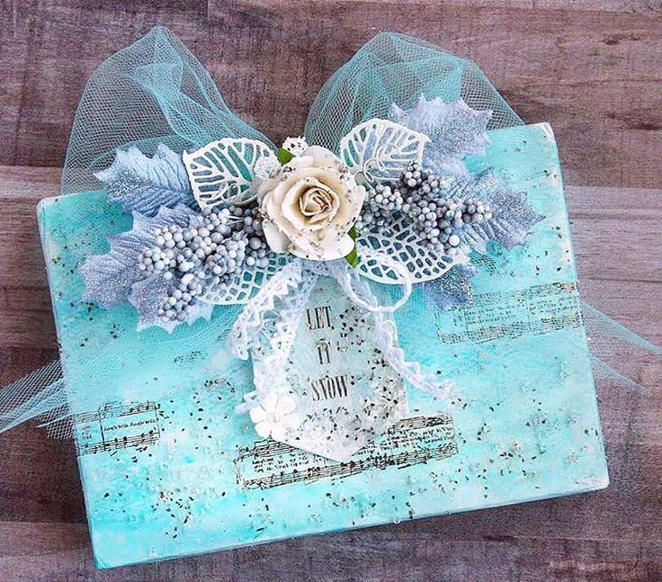 Create a gorgeous, frosty canvas perfect for displaying in your home, or giving as a present to a favorite neighbor, friend, or teacher!  Hope you enjoyed the video! ~ Sharon Laakkonen  https://youtu.be/bUsvxKFPNcc