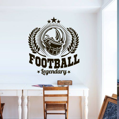 Wall Decal American Football Rugby Sport Helmet Play Man Ball rugby kids M1742. Thank you for visiting our store!!! Please read the whole description about this item and feel free to contact us with any questions! Vinyl wall decals are one of the latest trends in home decor. Vinyl wall decals give the look of a hand-painted quote, saying or image without the cost, time, and permanent paint on your wall. They are easy to apply and can be easily removed without damaging your walls. Vinyl…