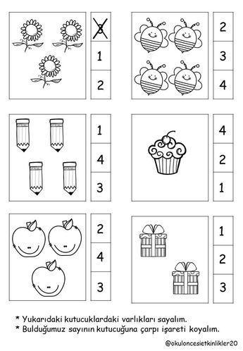 1 Den 5 E Kadar Rakamlar çalışma Sayfaları Okulöncesi San Autism
