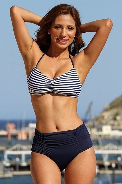 Cheeky High Waist Slimming Bikini Bottoms With Perfect Rib Drift - Sunnyside Swimwear