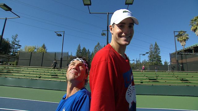 Pat Cash and John Isner.  #tennis #tennisplayer #patcash #sport