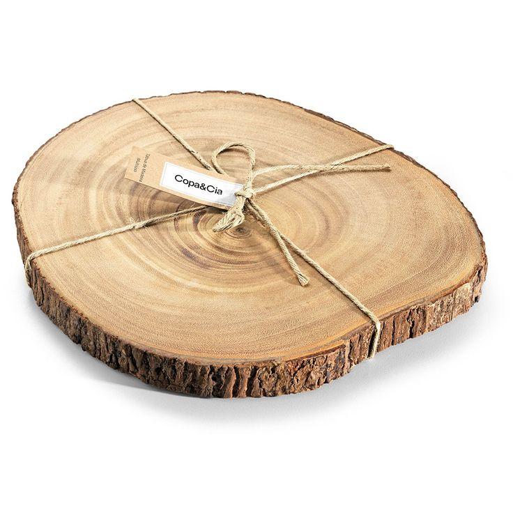 R$ 184,50 Tábua de corte de madeira Art Wood 36 cm - Utensílios Domésticos / Utilplast - Utilplast