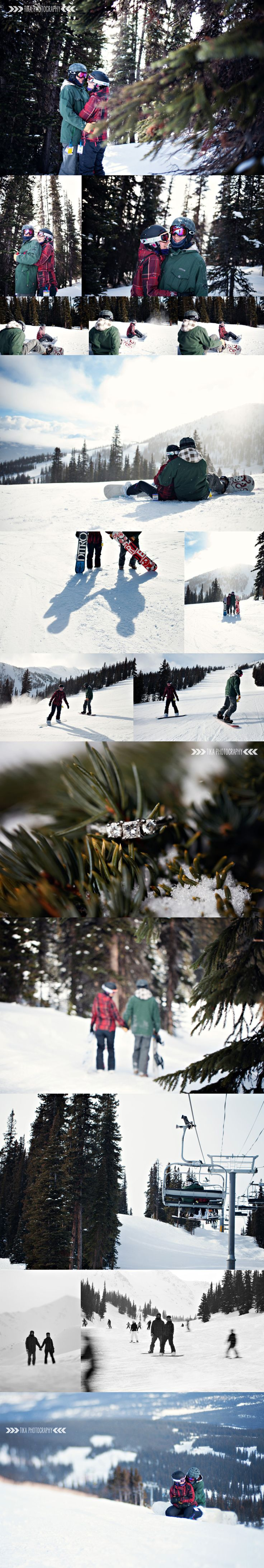 Jasper Marmot Basin snowboarding engagement session by TIKA Photography ~ Sherrie Ellis