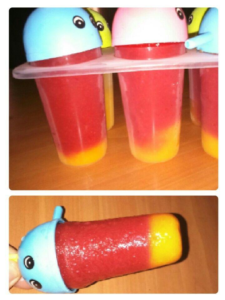 Helado infantil (frutilla y mango)
