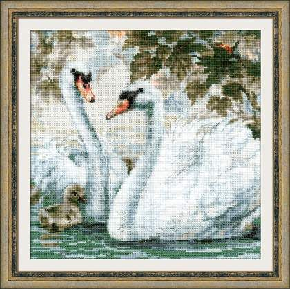 <b>Набор для вышивания крестом</b> «Белые лебеди» (1726 ...