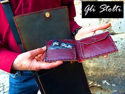 Portafogli da uomo in cuoio lavorato e cucito a mano. Gli Stolti Original Design. Handmade in Italy.  http://gli-stolti.blogspot.it/2013/11/gli-stolti-uomo.html  #moda #artigianato #design #madeinitaly #shopping #roma #festadelpapà