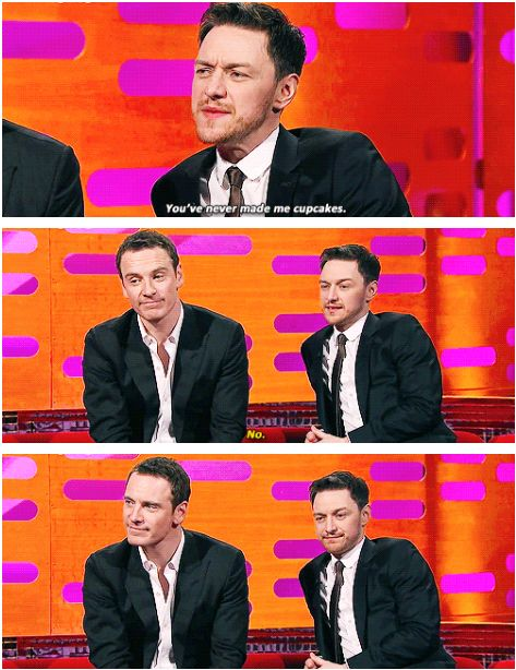 When he found out Michael Fassbender had been making cupcakes for other people, and got quite annoyed. | 21 Times James McAvoy Was Weird, Hilarious, And Adorable