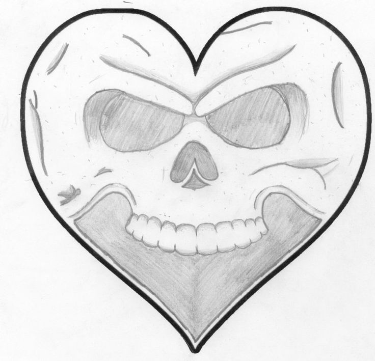Heart Drawings: Drawings Of Hearts And Skulls Posted On