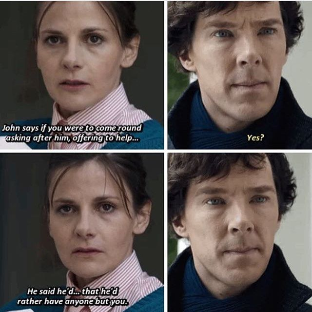 "Sherlock S04 E01 ""The Six Thatchers"". Sherlock's face, he is so hurt but it's like he almost expected it"