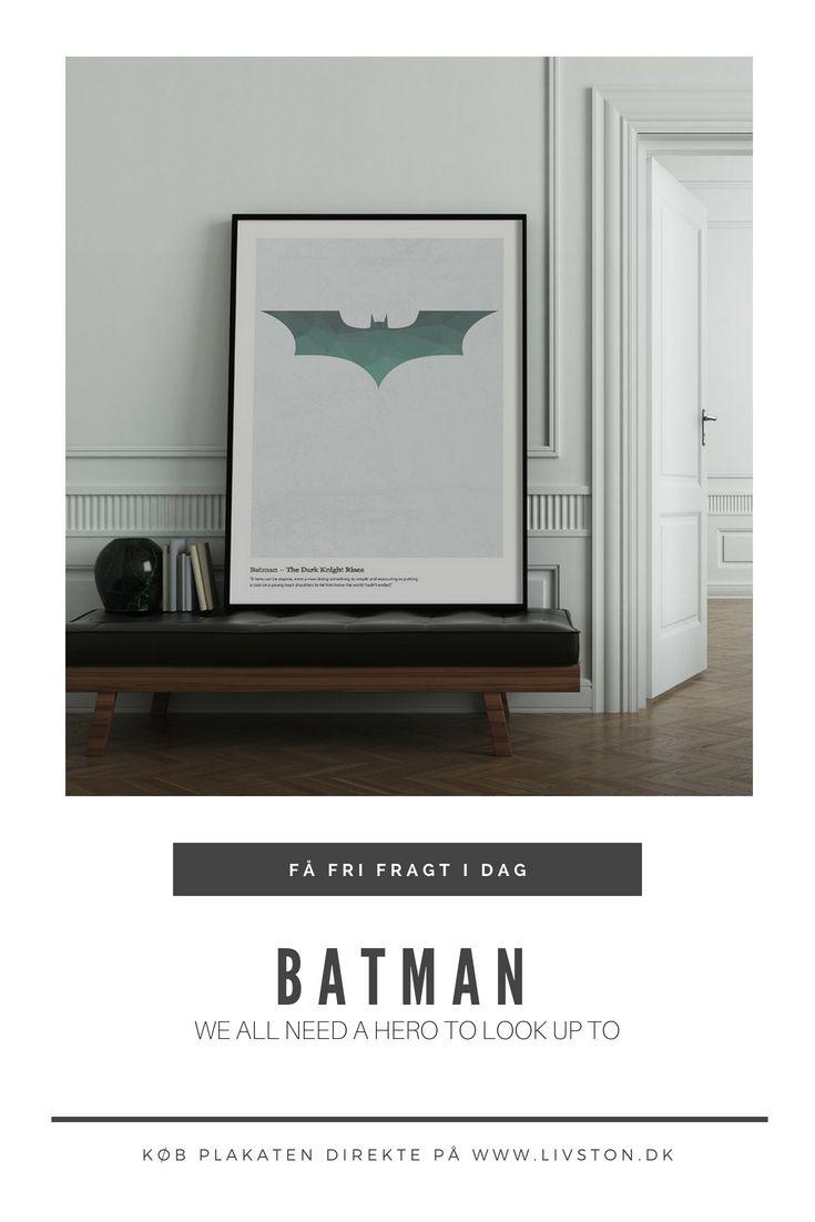 Batman The Dark Knight Designplakat Batman Plakater Heroes