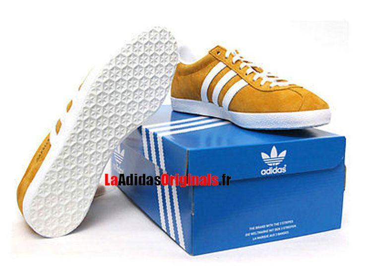 Adidas Gazelle OG - Chaussures Adidas Originals Pas Cher Pour Homme/Femme Jaune/Blanc G96702-Boutique Adidas Originals de Running (FR) - LaAdidasOriginals.fr