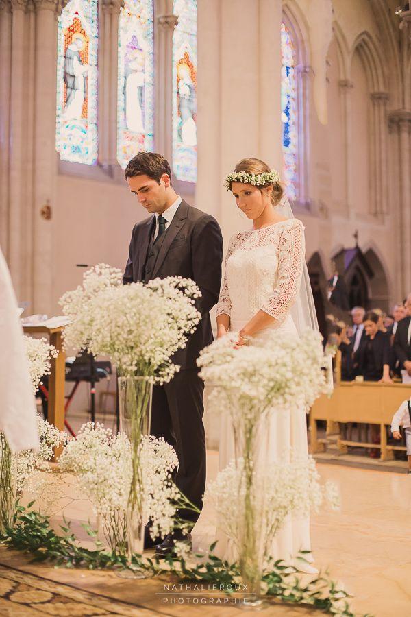 Décoration Cérémonie de mariage décoration autel gypsophile