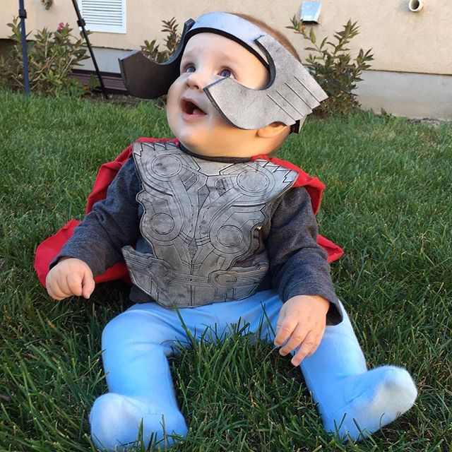 Baby Thor Halloween costume #halloween #babycostume #avengers #avengerscostume #thor #cutebaby #halloweencostume