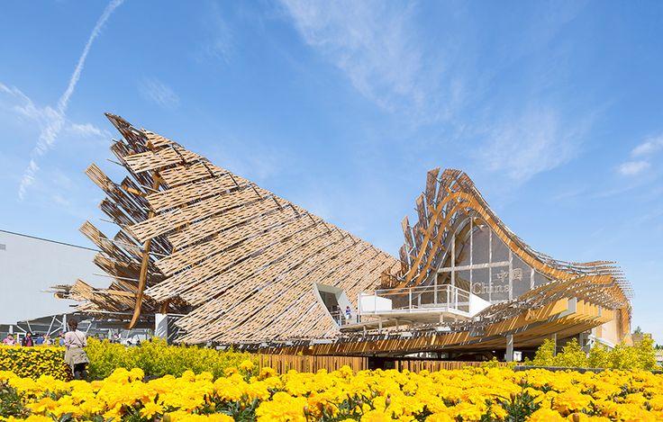 Kinesiska paviljongen av Studio Link-Arc och Tsinghuauniversitet. Foto Sergio Grazia.