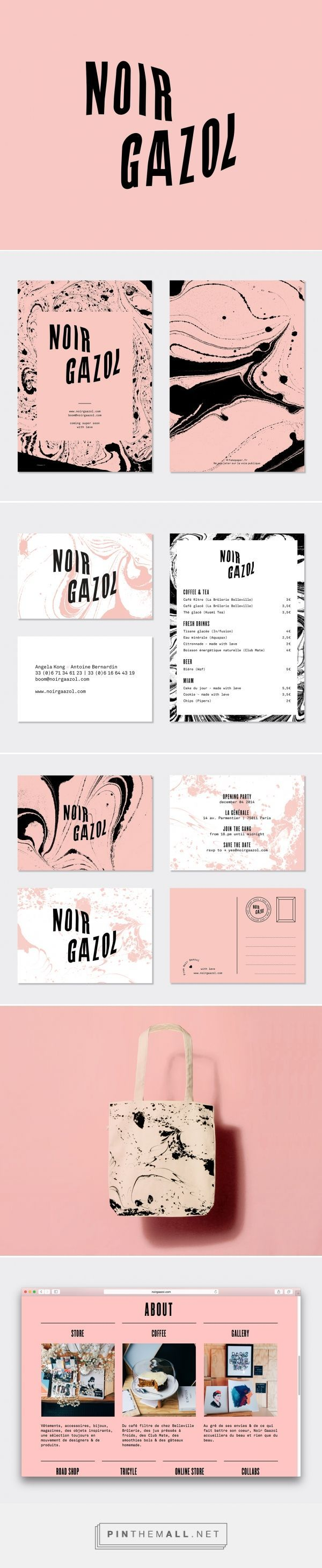 Ine design stone 187 other products - Noir Gaazol Branding By Fakepaper