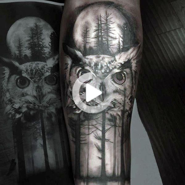 40 Owl Forearm Tattoo Designs For Men Feathered Ink Ideas In 2020 Owl Forearm Tattoo Forearm Tattoo Design Forearm Sleeve Tattoos
