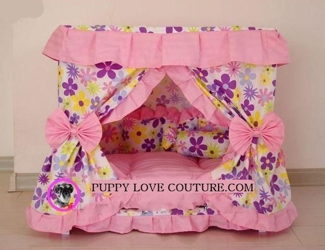 small dog stores and buquites | dog canopy bed – dog beds adorable canopy princess dog bed ad ...