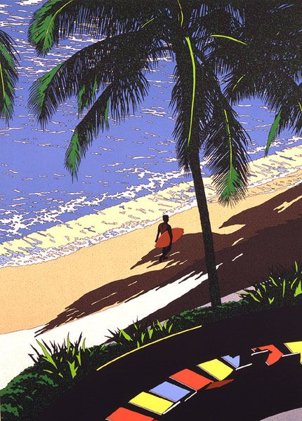 Waves PM 4 - by Eijin Suzuki  surfer surfboard #surfart