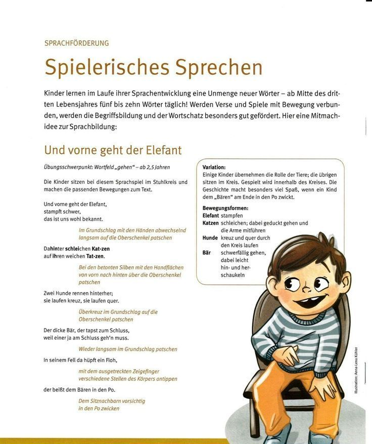 Language promotion / rhythmic speech    #  Spiel