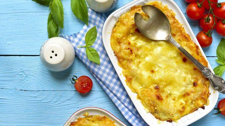 Koolhydraatarme ovenschotel met kip, spinazie en champignons