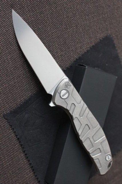Outdoor Folding EDC Knife,Shirogorov 95,Stonewash Model,Titanium Handles - Everyday Carry Gear