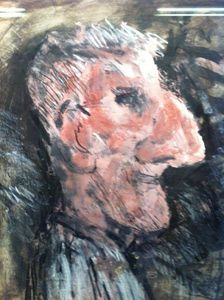 Big Nose - Mixed Media by Arthur Berry sold 2012