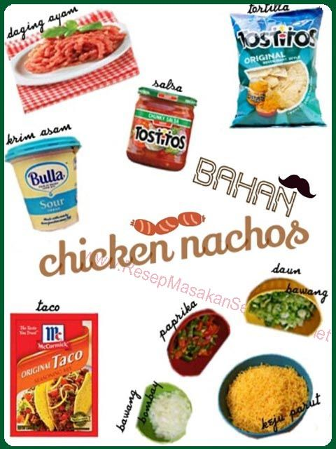 Resep Masakan Sederhana - Chicken Nachos  Bahan : - Daging ayam cincang - 1 1/2 sdm bumbu taco - Tortilla - Salsa - 1 Paprika hijau - 1 Paprika merah - 125g parutan cheddar - Daung bawang - 1 siung bawang bombay, hancur - 1/2 Cup krim asam  Video Cara Masak : http://www.youtube.com/watch?v=fGwIcywfoMM#t=269  NB : website (http://ResepMasakanSederhana.net/) kami dalam proses pembuatan  #resep#masakan#sederhana#makanan#meksiko#tortilla#sauce#enak#mexicofood#daging#tomat#salsa#cheese#keju
