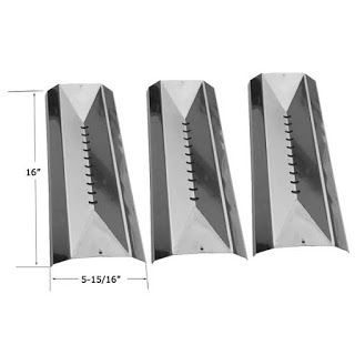 Grillpartszone- Grill Parts Store Canada - Get BBQ Parts,Grill Parts Canada: Centro Heat Shield | Replacement 3 Pack Stainless ...