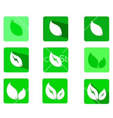 Leaficonset vector 4256349 - by ratandesignz on VectorStock®