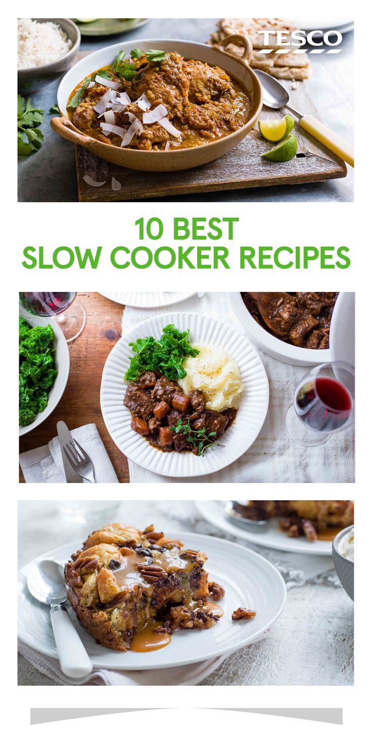 For the ultimate fuss-free cooking you can't beat a slow cooker recipe - just chuck in all your ingredients, set the timer and off you go. Whether you're looking for slow cooker chicken recipes, fragrant vegetarian tagines or even decadent slow cooker desserts, we have the perfect recipes for you. | Tesco