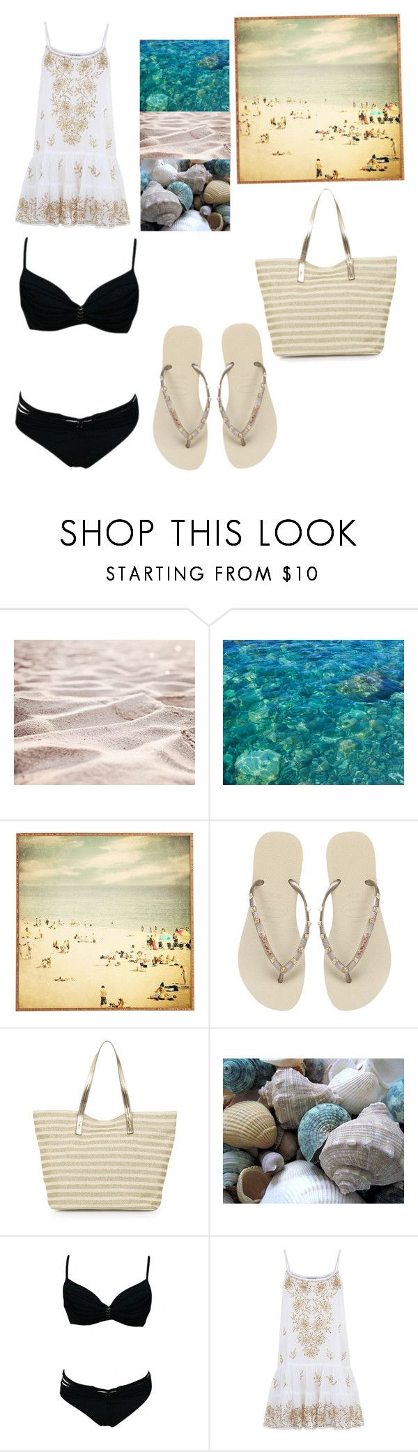 """""""Beach"""" by karabookiss ❤ liked on Polyvore featuring WALL, Universal Lighting and Decor, Havaianas, Monsoon and Juliet Dunn"""