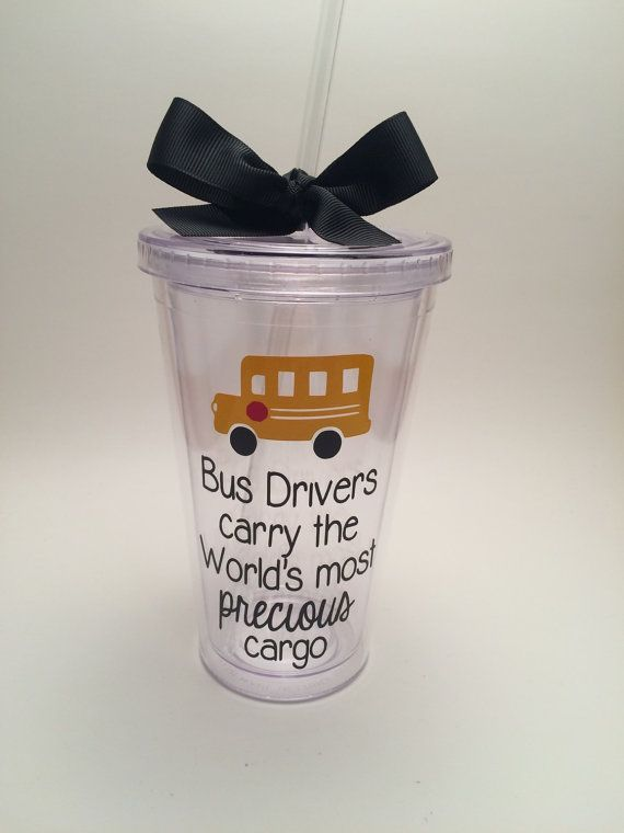 School Bus Driver Gift Bus Driver Tumbler by PrettyLittleVinyls