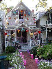 Martha's Vinyard, cottages at Methodist Camp Ground > love the lanterns everywhere!