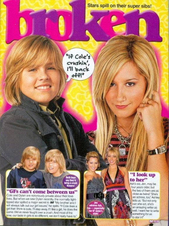 DYLAN & COLE SPROUSE - ASHLEY TISDALE  TEEN BOY ACTOR 11x8 MAGAZINE POSTER PINUP  | eBay