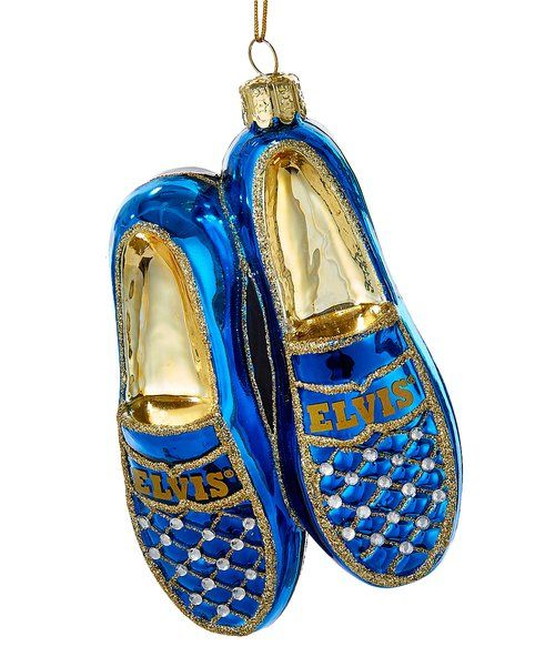 Look at this Elvis Blue Suede Shoes Ornament on #zulily today!