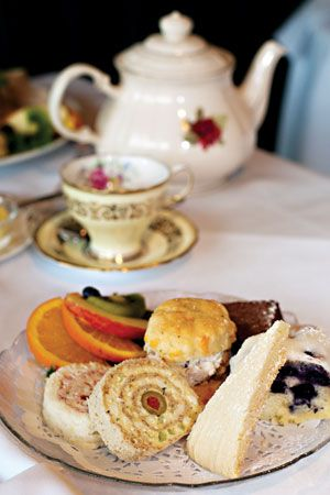 White Heather Tea Room, Victoria, British Columbia. Been there for tea. Came hungry. left STUFFED.