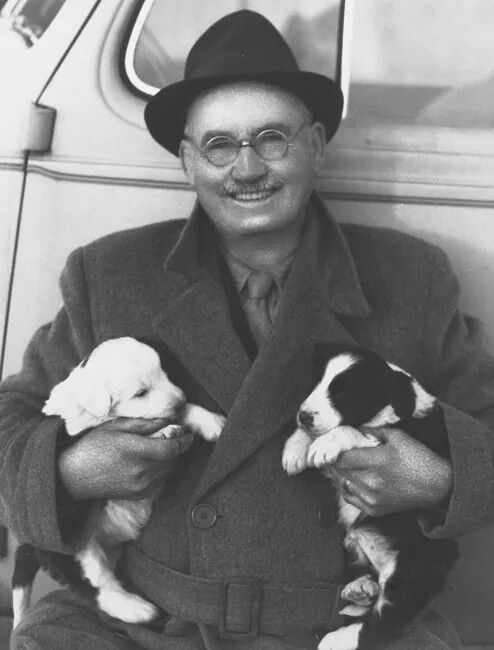 Dr. James Naismith the founder of basketball and KU's first coach was an animal lover aww...Who knew? #rcjh