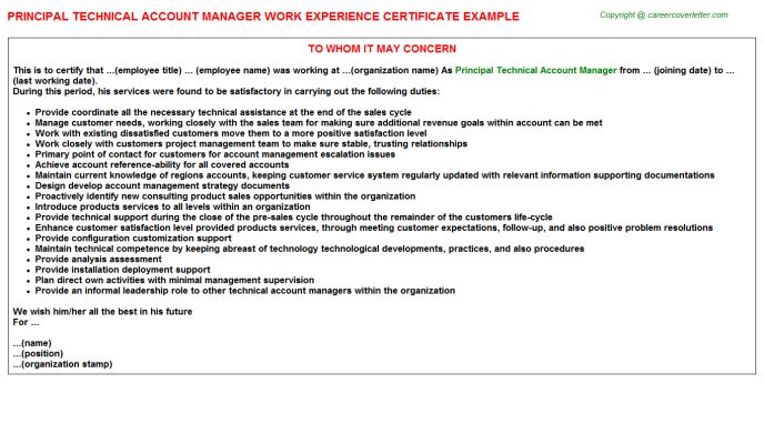 certificates experience certificate format for school principal part - copy format of noc letter from previous auditor