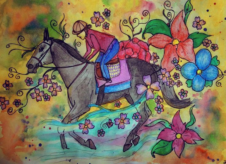 Watercolor & watercolor pencils, 148 x 210 mm