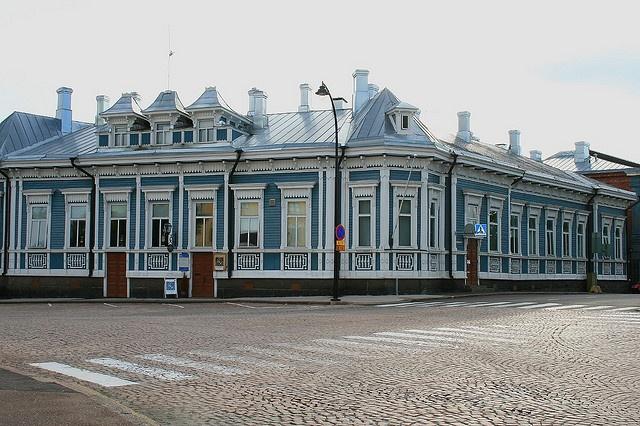 Finland: Hamina: Wooden architecture