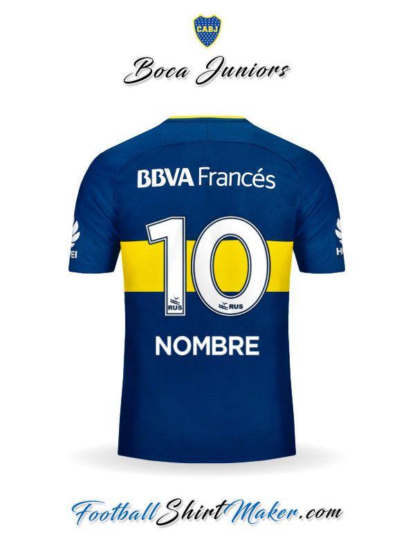 01ae093ec5 Camiseta Boca Juniors 2017 2018 Nombre 10