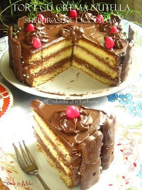 Tort cu crema nutella si iepurasi de ciocolata un tort ciocolatos de Pasti.