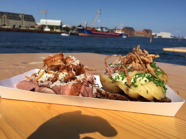 National specialty in Denmark - Smorrebrod! Interesting taste, but not the best :) #Copenhagen