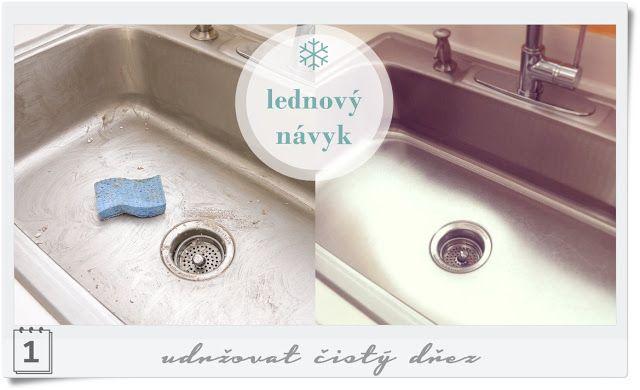 Terapie domova: Návyk měsíce ledna: udržovat čistý dřez