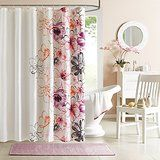 Bathroom shower curtains - Floral design shower curtain, really cute pattern. Visit us for more information and where to buy.