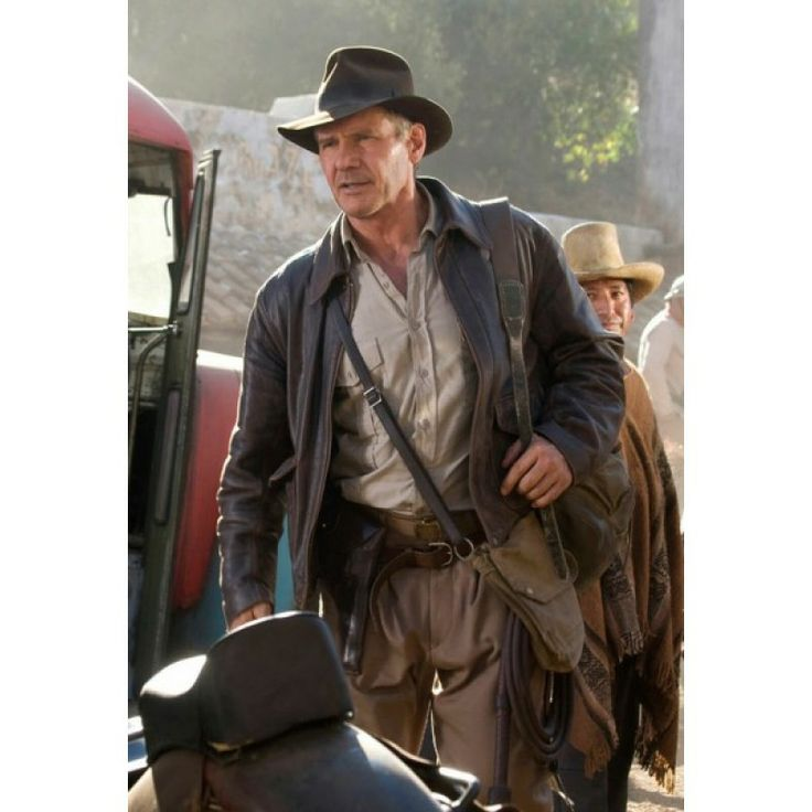 """Indiana Jones 4 Harrison Ford Real Leather Jacket This """"Indiana Jones 4 Leather Jacket"""" is one of the wonderful pieces of clothing that we at Desertleather.com have decided to create the replica in his honor at our online store. With the accessibility that has been prepared in the greatest selling price for the fans of Indiana Jones that they may experience relaxed as Harrison Ford seemed to be in the film."""