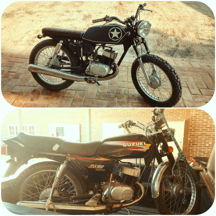 Before and after. Custom AX100